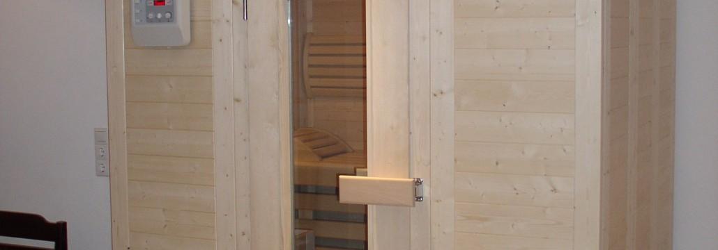 Sauna aus Vollholz