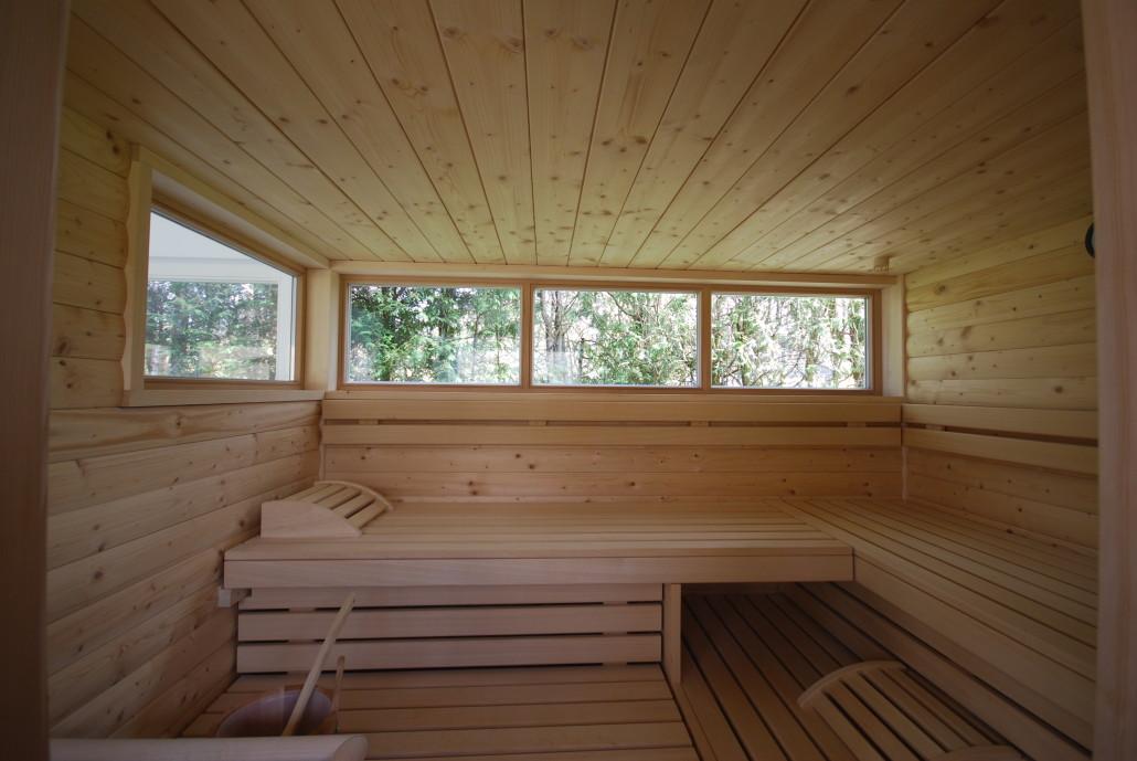 exklusive massivholzsauna. Black Bedroom Furniture Sets. Home Design Ideas